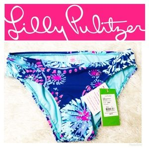 Lily Pulitzer Blossom Bikini Bottom Twilight Blu